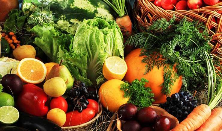 Serinleten meyve ve sebzeler