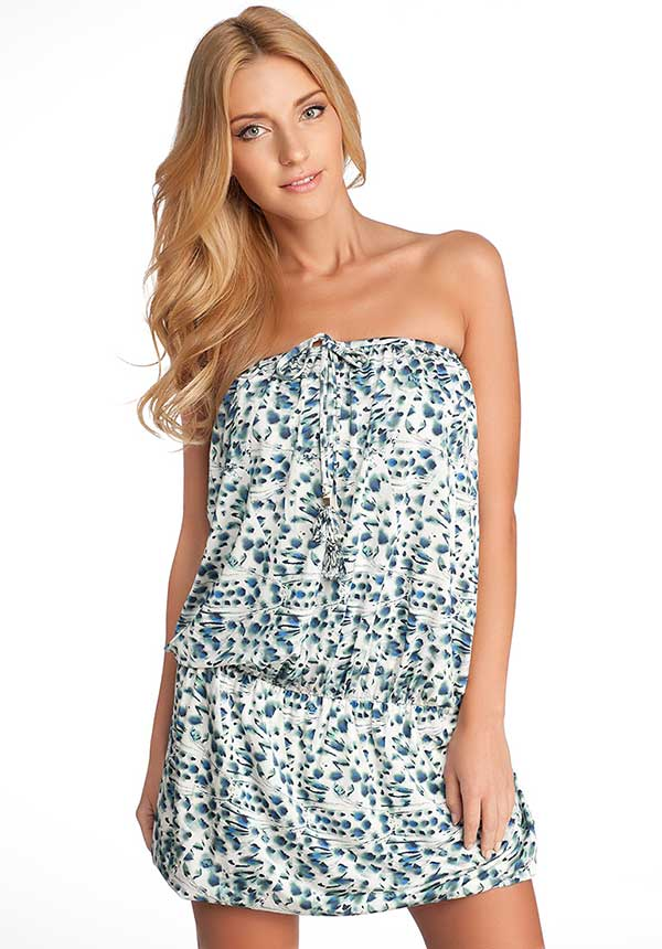 Straplez Yazlık Mini Elbise